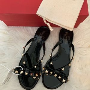 Valentino Rock Stud Jelly Sandals